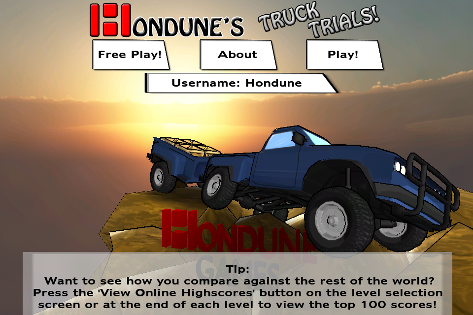 Screenshot Hondune's Truck Trials